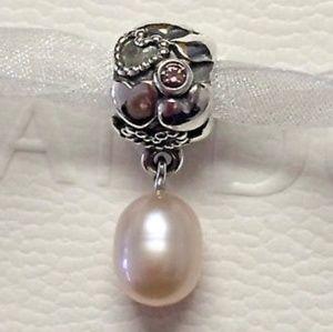 Pandora Pink Pearl of Hearts Dangle Charm